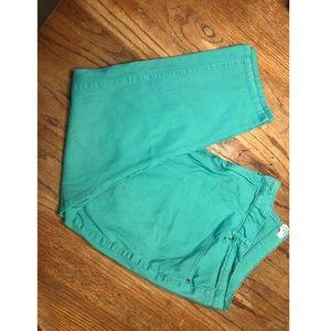 Teal pants. Size 24w-short.